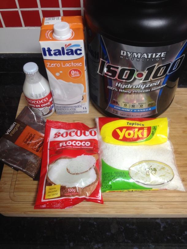 Ingredientes para o Cuscuz de Tapioca Doce