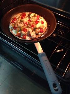 Coloque no forno e pronto! Pizza!!