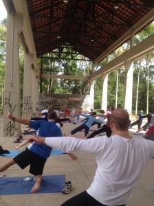 Yoga de graça! Todo domingo 09h na Serraria do Parque Ibirapuera! É demais