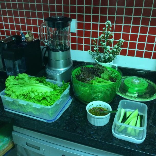 Saladinha limpa e pronta para o consumo! Organização é a alma de uma dieta